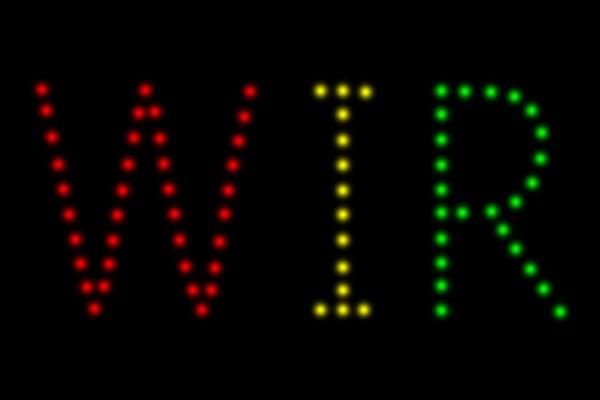 EASYBOX Lichterbild 3-4 Buchstaben (1 Platte)