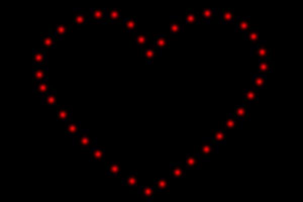 EASYBOX Lichterbild großes Herz