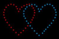 EASYBOX Lichterbild Doppelherz