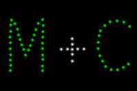 EASYBOX Lichterbild 2 Buchstaben und +